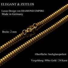 Cadena Veneciana 2mm Oro Genuino 24 Quilates Dorado Oro Amarillo K3198