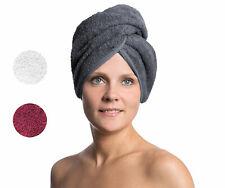 Haarturban / Kopfhandtuch / Haartrockentuch mit Knopf im Nacken, 100% Baumwolle