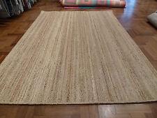 RUG PLAT Natural Flatweave Natural Jute Floor mat Carpet Organic **FREE POST**