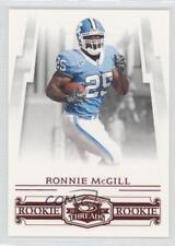 2007 Donruss Threads Century Proof Red #217 Ronnie McGill Rookie Football Card