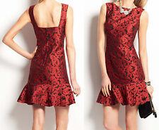 NWT $228 Ann Taylor Floral Jacquard Flounce Dress Size 6