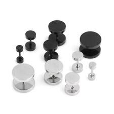 Men's Unisex Earrings Round Plugs Stainless Steel Ear Studs Piercing AUS Jewelry