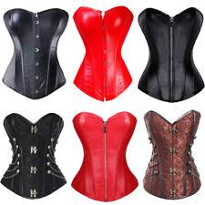US Women Black Steampunk Corset Bustier Shapewear Plus Size Sexy Lingerie S-6XL