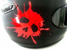 Helm Aufkleber Totenkopf Folie Aufkleber Skull Folierung Mr-Plott