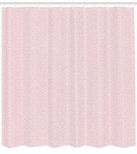 Pastel Geometry Pattern Shower Curtain Fabric Decor Set with Hooks 4 Sizes
