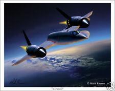 "SR-71 Blackbird  Aviation Art Print - 11"" x 14"""