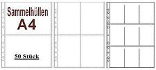 50x A4 Sammelhüllen , Prospekthüllen, Kartenhüllen 120my geteilt auf A5, A6, A8