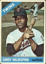 1966 Topps Minnesota Twins Baseball Card #56 Sandy Valdespino - VG