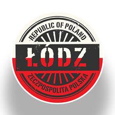 2 x Poland Lodz Vinyl Stickers Travel Luggage #7394