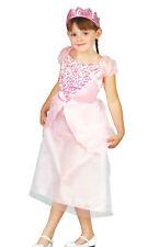 Prinzessin Kleid Kostüm Fasching Karneval Mädchen rosa Verkleidung Krone