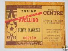 TORINO - AVELLINO BIGLIETTO TICKET 1983 / 84