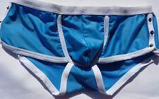 New Mens Swimwear Elektrik Pipped Swim Short  Blue   New With Tags