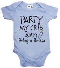 """GRACIOSO Body de bebé """"fiesta My Cuna 2am bring a botella"""""""