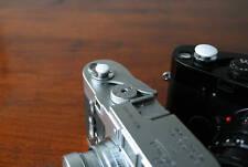 White 10mm Convex Soft Release Button f/ Leica M3 MP M8 M9 Fuji X100 Nikon Canon