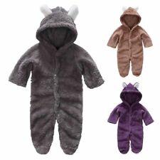 Newborn Outfits Baby Boys Girls One Piece Romper Bodysuit Hooded Bear Jumpsuit