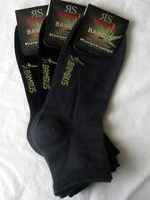 3 Paar Mujer Bambú Zapatillas Medias  cortas Calcetines Borde suave negro