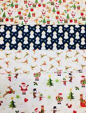 """Makower Navidad Scandi Media Panel 23/""""x44/"""" Gratis P/&P 100/% algodón"""