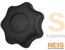 KIPP Star Grip Internal Thread Black METRIC - M5 M6 M8 M10 M12 M16, Knurled Knob