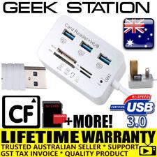 3 Port Aluminum USB 3.0 Hub MS SD M2 TF Multi-In-1 Memory Card Reader Adapter