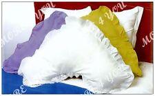 Over 13 Colors - V Shaped / Tri / Boomerang RUFFLED Pillowcase Polyester Cotton