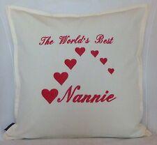 World's Best Nan Mamie personnalisé Brodé Anniversaire Souvenir Cadeau Coussin