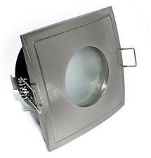 1 x Einbaustrahler Square IP65 230V rostfrei edelstahl-gebürstet & GU10 Fassung