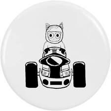 'Cat Racing Driver' Button Pin Badges (BB000464)