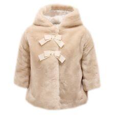 9777T cappotto bimba SIMONETTA TINY ecopelliccia beige coat kid