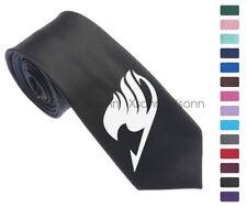 "Anime Fairy Tail Logo Men Woven Skinny 2.5"" Party Tie Necktie K40"