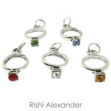 925 Sterling Silver Birthstone Wedding Ring Charm Made in America