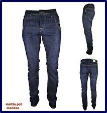 Jeans Meltin pot da uomo monkee pantalone elasticizzato blu regular fit w30 w32