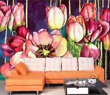 3D Jasmin Tulipe 44 Photo Papier Peint en Autocollant Murale Plafond Chambre Art