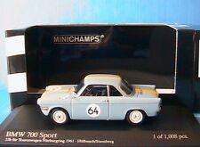 BMW 700 SPORT #64 12 HOURS FUR TOURENWAGEN NURBURGRING 1961 HULBUSCH STAUSBERG