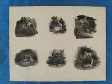 LITHOGRAPHIE VERS 1830 ACHILLE DEVERIA CACHET C. MOTTE