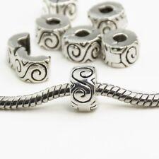 New Silver Plated S Design Clip Stopper bead Charm Fits European brand bracelet