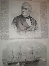 NEW QUEEN'S Bench juge William Shee et Conferderate navire de la marine CSS Pampero 1864
