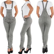 Damen Latzhose Latzjeans Hüftjeans Röhrenjeans Skinny Stretch Jeans Hose Overall
