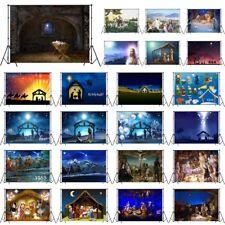 Vinyl Holy Night Jesus Christ Nativity Manger Studio Backdrop Background 10X8FT