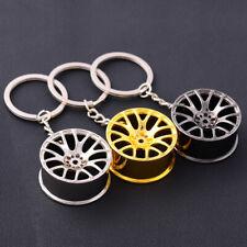 Creative Wheel Hub Rim Model Men Keyring Car Key Chain Hanging Pendant Decor