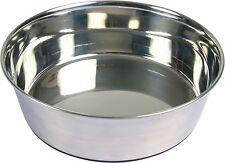 TRIXIE in acciaio inox di qualità cibo per cani o Acqua Ciotola con base in gomma 4 Taglie