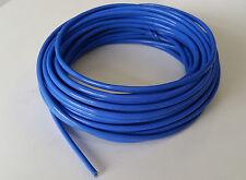 Gaine tressée fibre de verre enduite caoutchouc de silicone diamètre 2.5 mm bleu