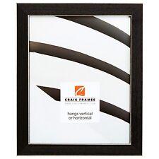 """Craig Frames 1"""" Shaker, Black Wood Picture Frame"""