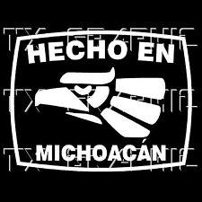 Hecho En Michoacan  Estado de Mexico State  Aztec Aguila Decal   Sticker