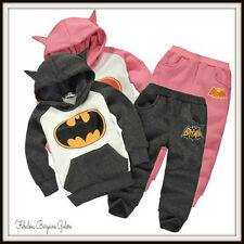 Batman Baby Boys Girls Fleece Warm Winter Hoodie Sweatshirt autumn Set Outfit