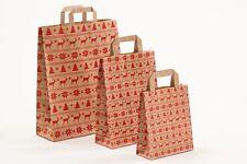 250 Papiertragetaschen Norweger natur braun Papiertüten Winter Weihnachten