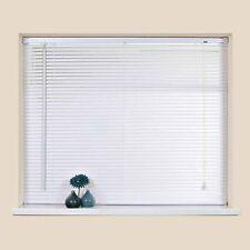 VENETIAN WINDOW BLIND WHITE ALL SIZES BLINDS WHITE PVC BEDROOM HOME SHADE NEW