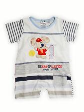 Tutina pagliaccetto neonato corto 100% cotone Bidibimbo P4400 tg.1° 3/6 mesi