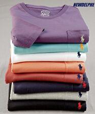NWT Polo Ralph Lauren Men's Short-Sleeved Pocket Crew T-Shirt Tee S M L XL XXL