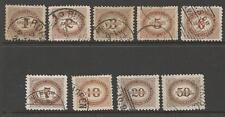 AUSTRIA SGD96/104 1894-5 POSTAGE DUES USED
