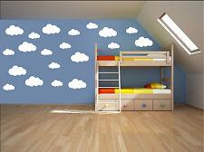 14 X Clouds Wall Stickers Children Nursery Kids Room Decals UK RUI56A